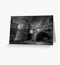 Nottingham Castle v2.0 BW  Greeting Card