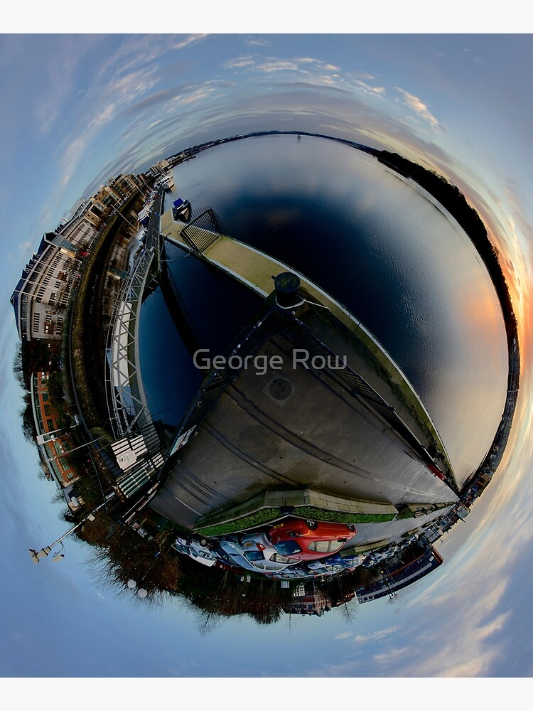 Foyle Marina at Dawn, Stereographic by VeryIreland