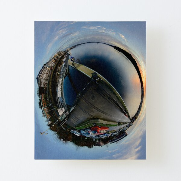 Foyle Marina at Dawn, Stereographic Canvas Mounted Print