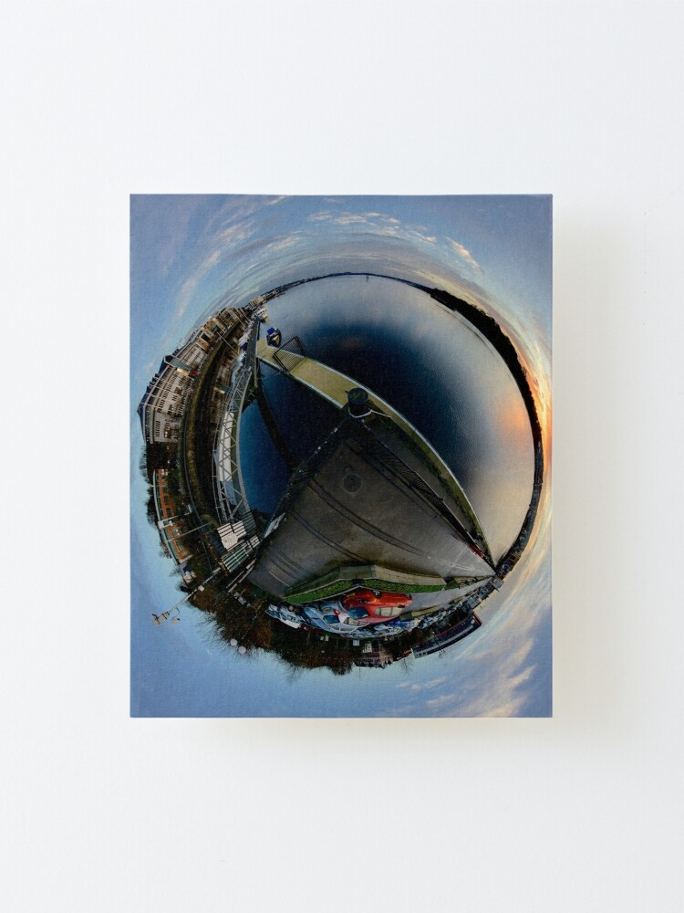 Alternate view of Foyle Marina at Dawn, Stereographic Mounted Print