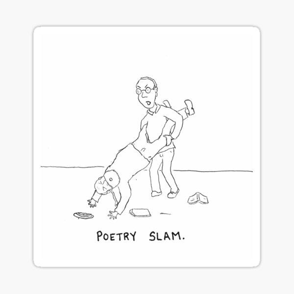 Poetry Slam. Sticker