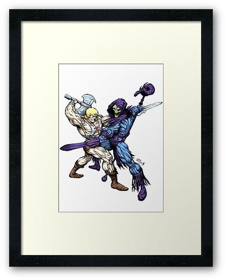Heman versus Skeletor by SirG