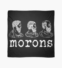 Inspired by Princess Bride - Plato - Aristotle - Socrates - Morons - Movie Quotes - Comedy Scarf
