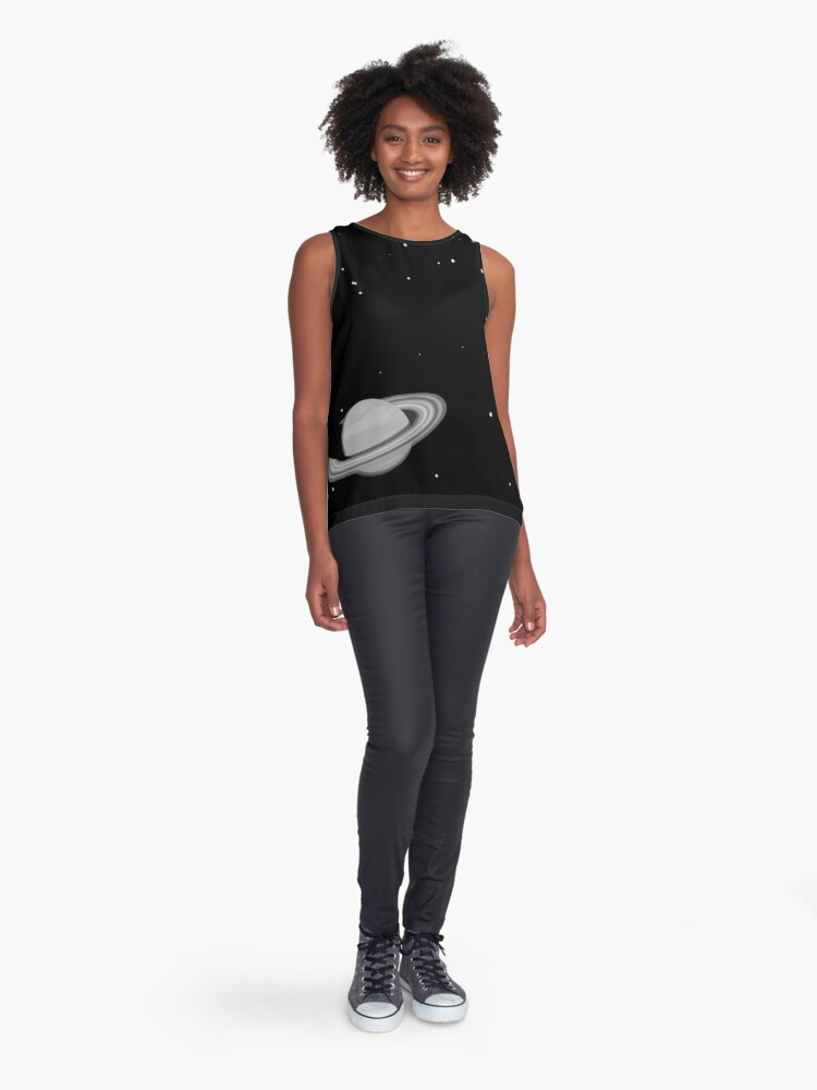 Alternate view of Black and White Saturn Sleeveless Top
