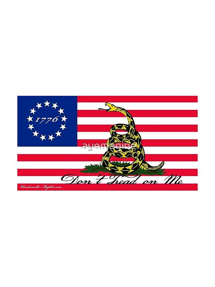 Betsy Ross-Gadsden Flag by ayemagine
