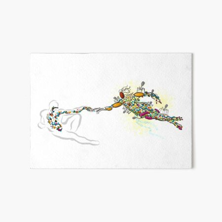 Creation Art Board Print