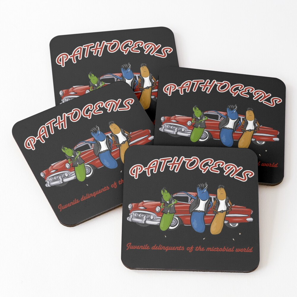 Greaser Pathogens Coasters (Set of 4)