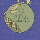 Go Smudge Yourself || Burning Sage Illustration || GREEN by chrystakay