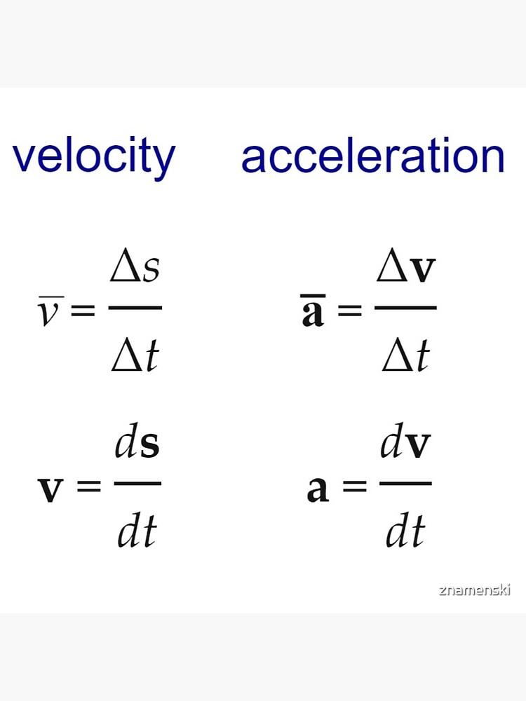 #Velocity, #Acceleration, #Physics, #Mechanics by znamenski