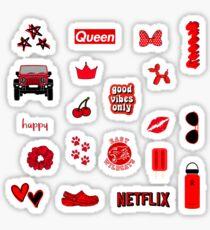Red Sticker Pack Glänzender Sticker