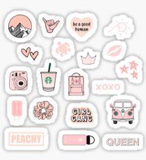 Peach Pink Sticker Pack Sticker