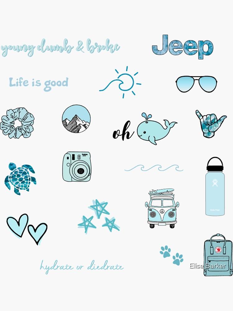 Blue Sticker Pack by elisebarker