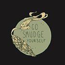 Go Smudge Yourself || Burning Sage Illustration || BLACK by chrystakay