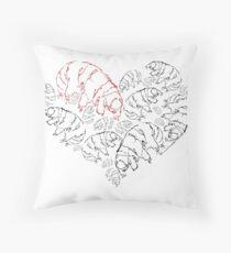 Tardigrade Valentine Throw Pillow