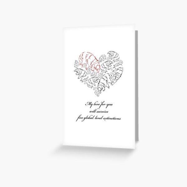 Tardigrade Valentine Greeting Card
