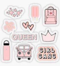 Kleine Stickerpackung Peach Pink 1 Transparenter Sticker
