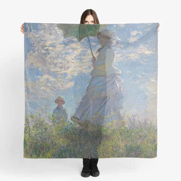Woman with a Parasol (High Resolution), Monet Scarf
