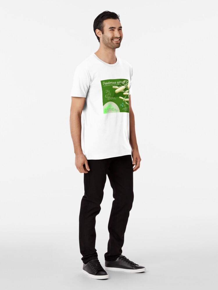 Alternate view of Pseudomonas syringae Premium T-Shirt