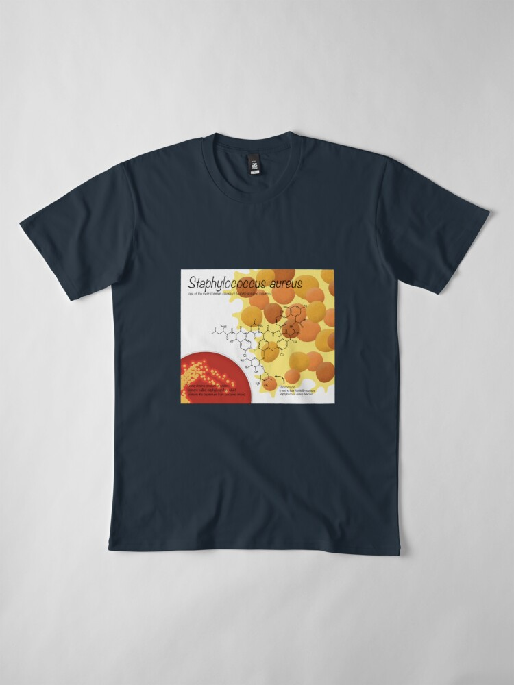 Alternate view of Staphylococcus aureus Premium T-Shirt