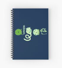 Literate Microscopic Algae Spiral Notebook