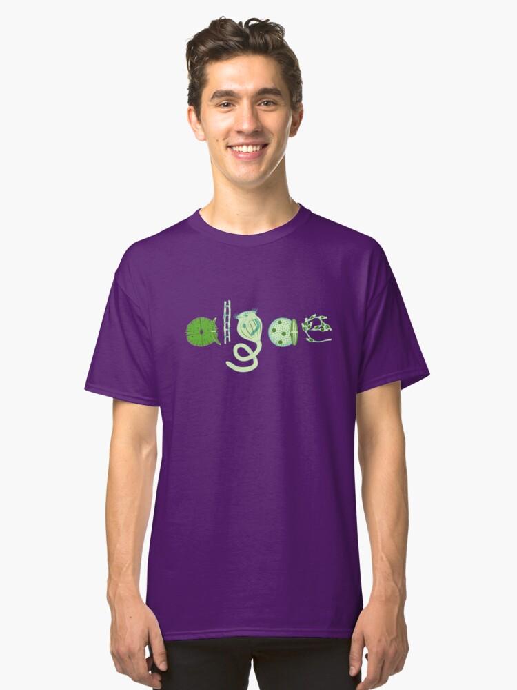 Alternate view of Literate Microscopic Algae Classic T-Shirt