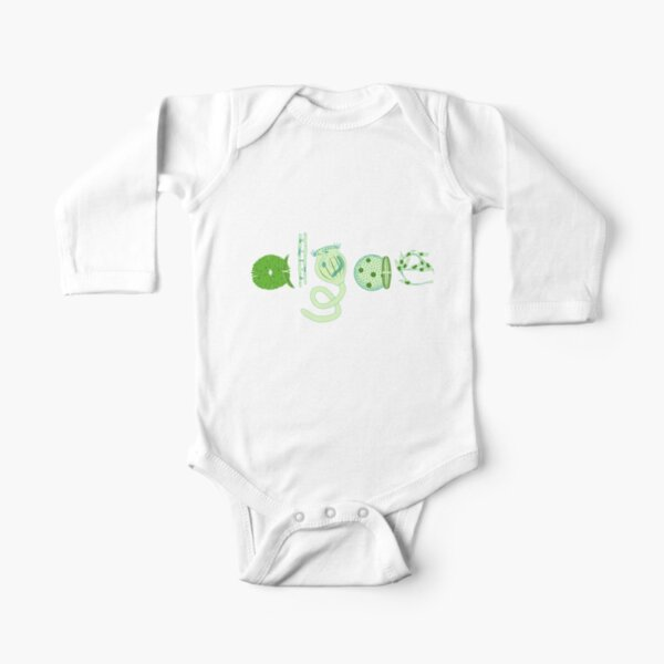 Literate Microscopic Algae Long Sleeve Baby One-Piece
