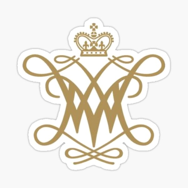 Gold William and Mary Cypher Sticker