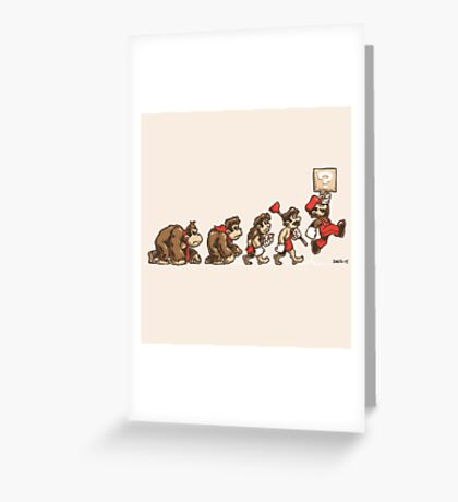 8 Bit Evolution Greeting Card