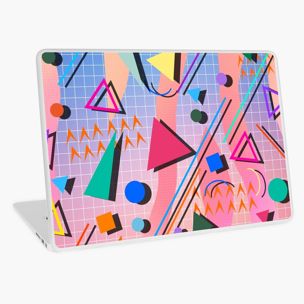 80s pop retro pattern 2 Laptop Skin