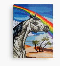 Arabian Needlepoint Metal Print