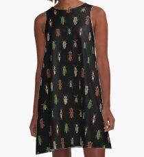 Four Beetles A-Line Dress