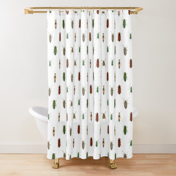 Four Beetles Shower Curtain