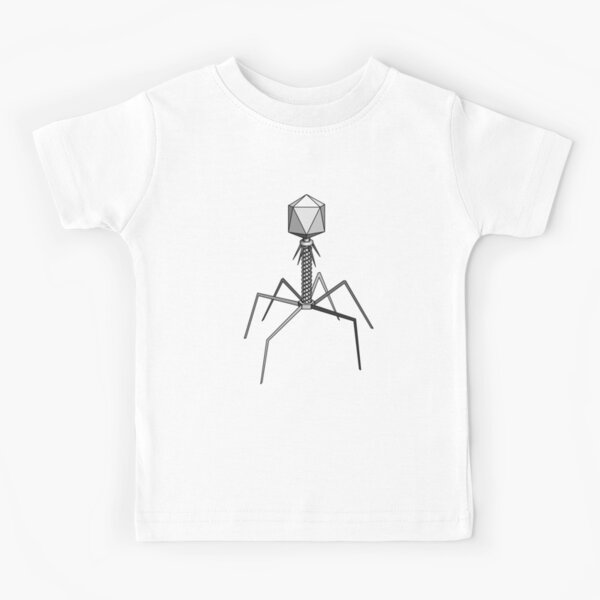T4 bacteriophage virus Kids T-Shirt