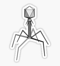 T4 bacteriophage virus Sticker