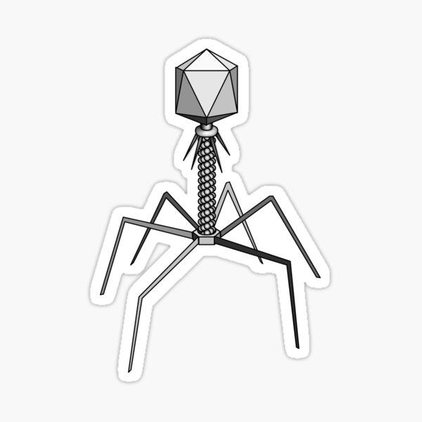 T4 bacteriophage virus Sticker