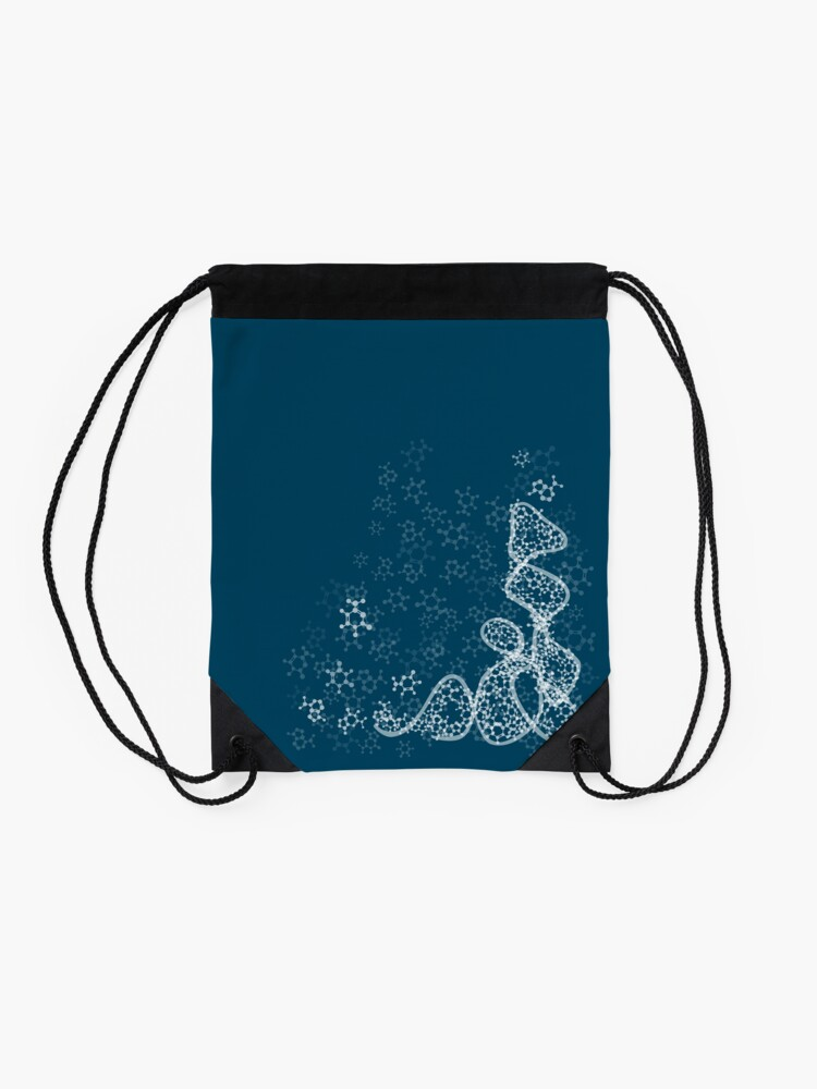 Alternate view of tRNA (transfer RNA) structure - white Drawstring Bag