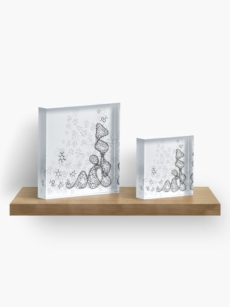 Alternate view of tRNA (transfer RNA) structure Acrylic Block