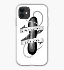 Microbial Badass Tattoo - black and white iPhone Case