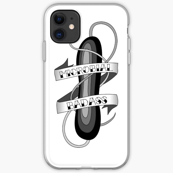 Microbial Badass Tattoo - black and white iPhone Soft Case