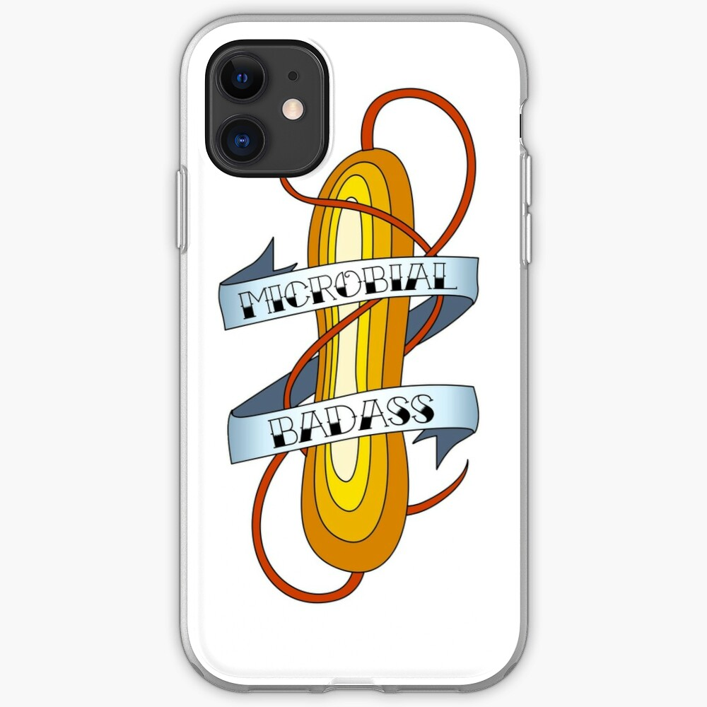 Microbial Badass Tattoo - full colour iPhone Case & Cover
