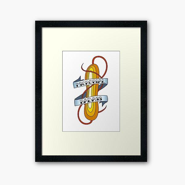 Microbial Badass Tattoo - full colour Framed Art Print