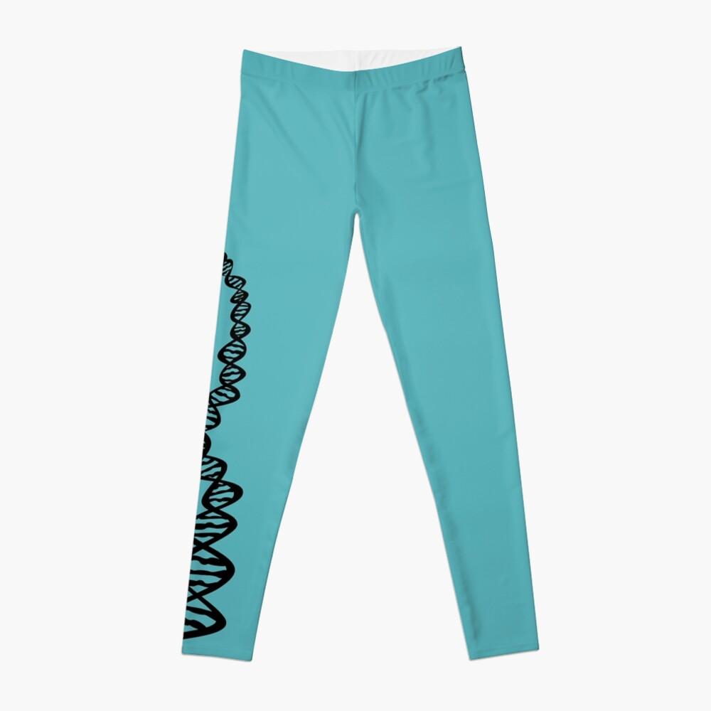 DNA strand - black Leggings