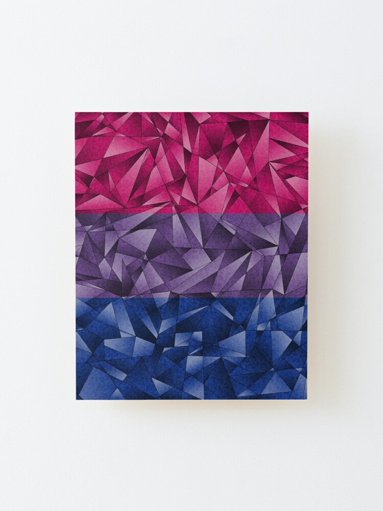 Alternate view of Abstract Bisexual Flag Mounted Print