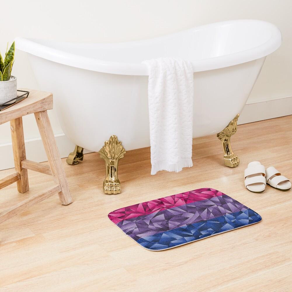 Abstract Bisexual Flag Bath Mat