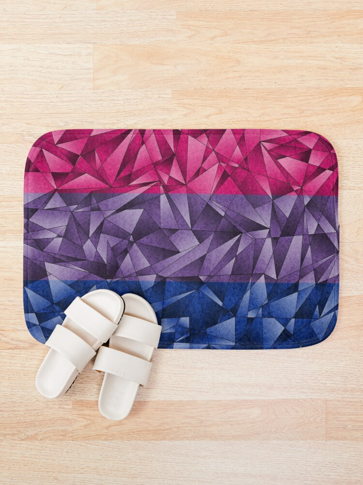 Alternate view of Abstract Bisexual Flag Bath Mat