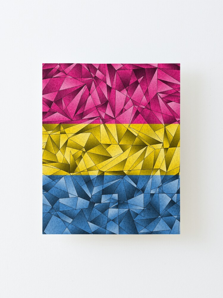 Alternate view of Abstract Pansexual Flag Mounted Print