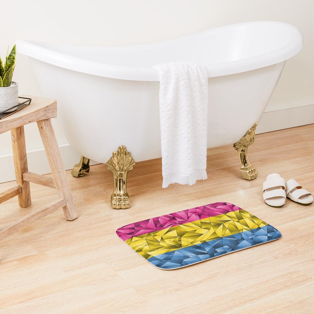 Abstract Pansexual Flag Bath Mat