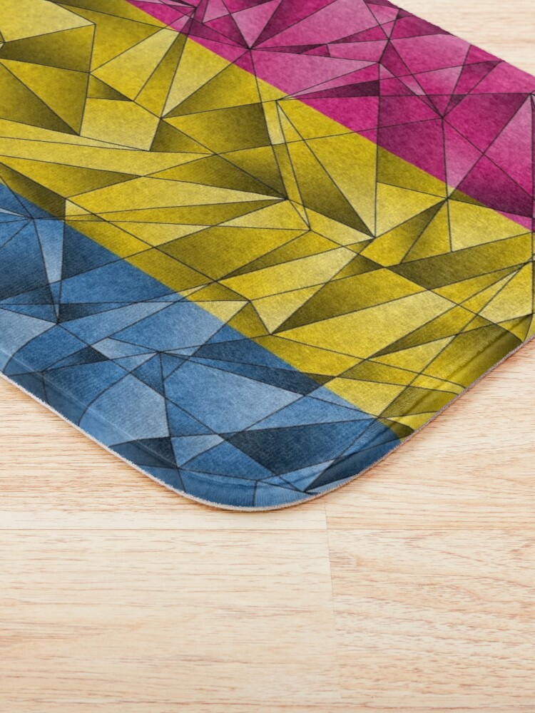 Alternate view of Abstract Pansexual Flag Bath Mat