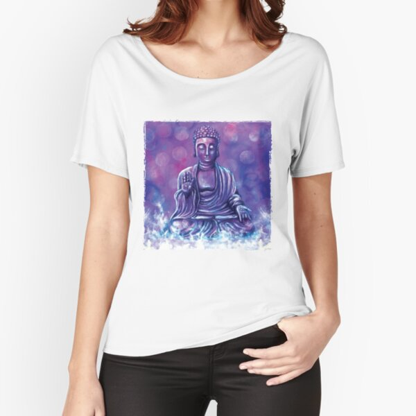 Serenity- Spiritual Buddha - acrylic painting - Meditate your spiritual journey  Relaxed Fit T-Shirt