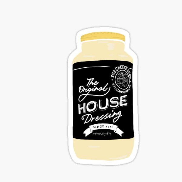 Cheese Shop House Dressing Sticker
